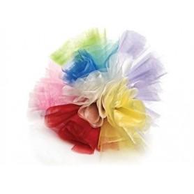 Tulle tondo smerlato per confetti 25 cm