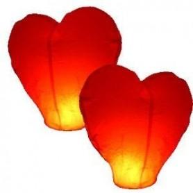 Set 3 Lanterne a forma di cuore