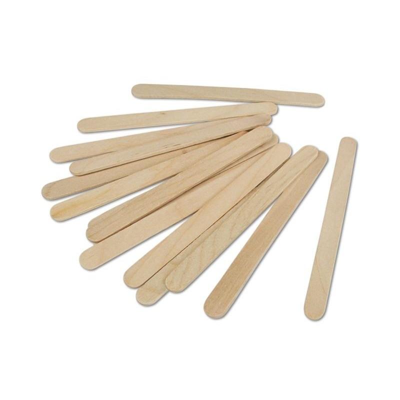 100 Stecche gelato con punta arrotondata in legno