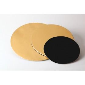 Dischi sottotorta oro/nero con bordo liscio 10 Kg NOVACART