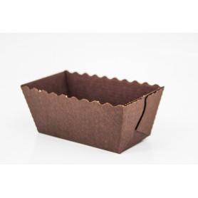 Stampi cottura rettangolare 8x8xh.4 cm in cartoncino marrone NOVACART